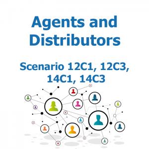 Agents and distributors - Recruitment map - Scenario 12C1, 12C3, 14C1, 14C3