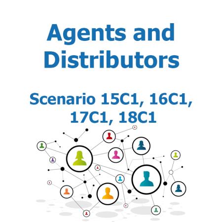 Agents and distributors - Recruitment map - Scenario 15C1, 16C1, 17C1, 18C1