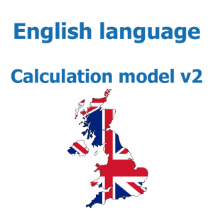 English language for calculation model v2
